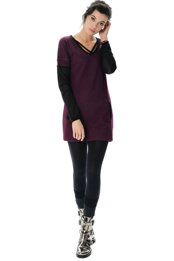 French Terry Tunic - MADDY Velvet | Schwiing