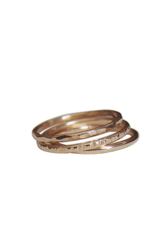 Textured Gold-Fill Stacking Ring | Strut