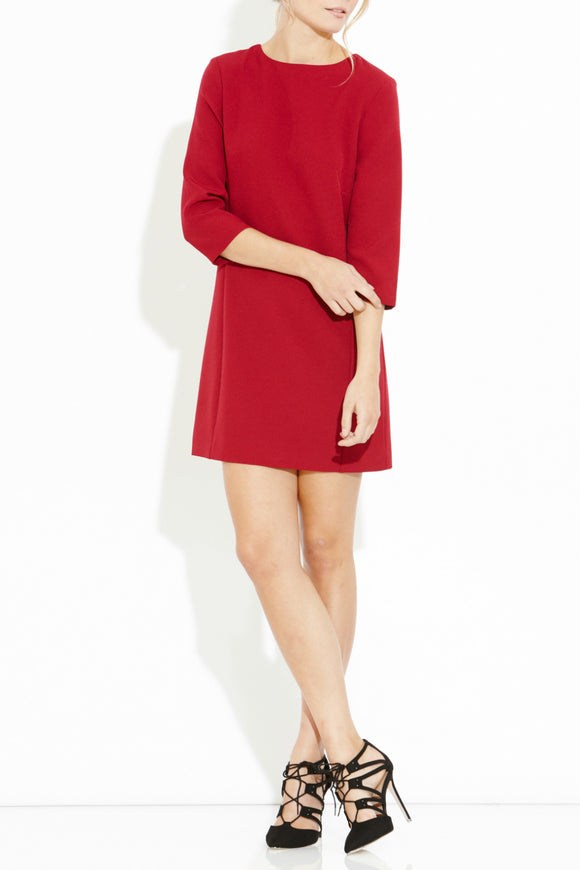 Gracious Button Back Shift Dress