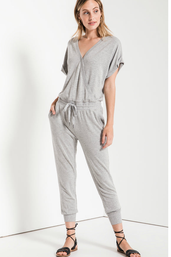 The Wrap Front Jumpsuit - Grey | Z Supply