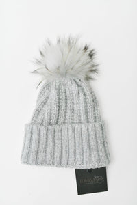 Grey Cable Knit Toque | Tom & Eva
