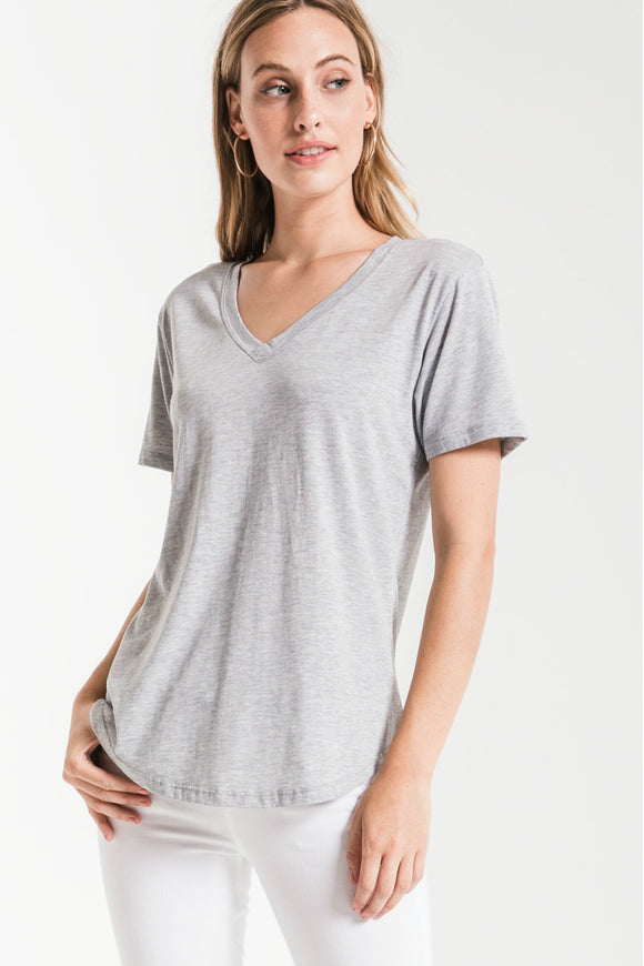 The V-Neck Heather Grey Tee | Z Supply