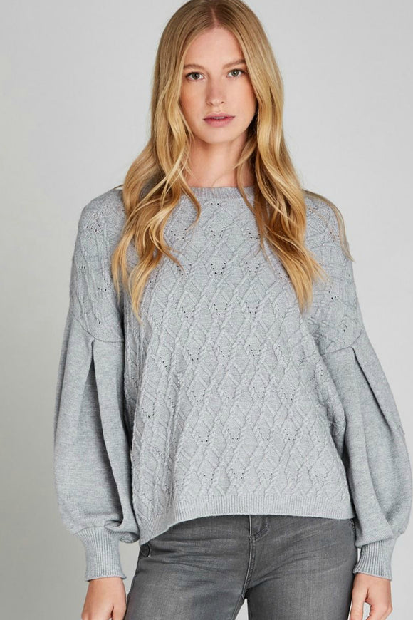 Cable Knit Jumper | Apricot
