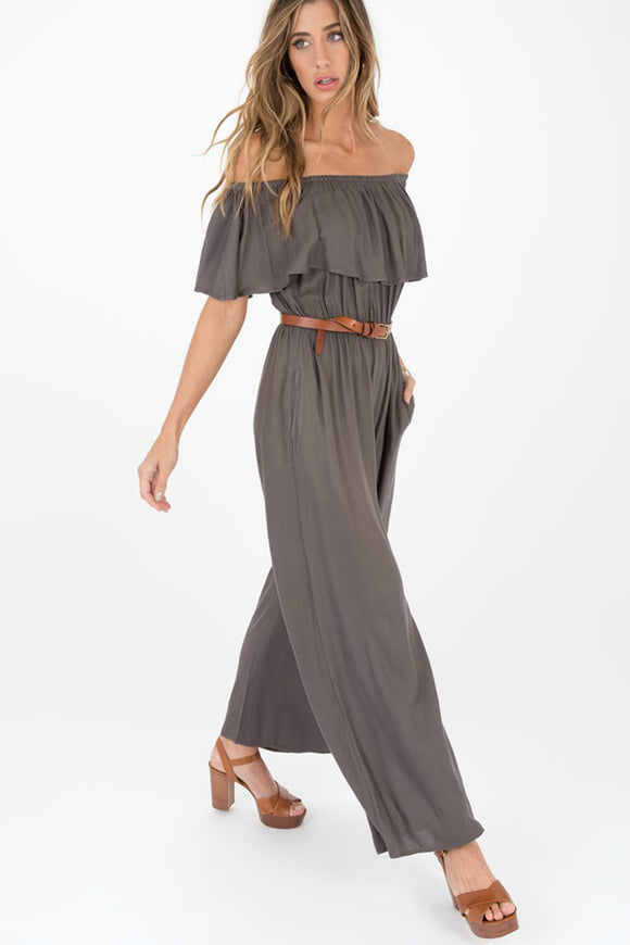 Harp Off-The-Shoulder Jumpsuit | Others Follow