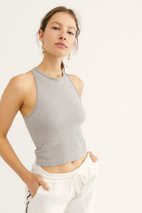 Hayley Racerback Brami - Grey | Free People