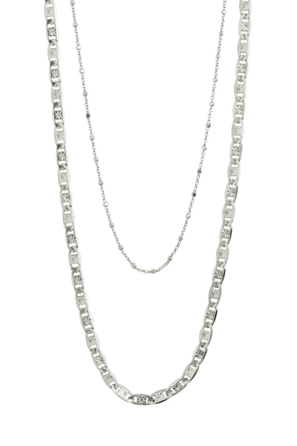 Intuition 2-in-1 Necklace - Silver | Pilgrim