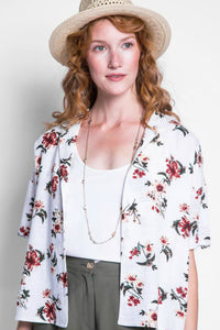 short sleeve floral blouse by pink martini