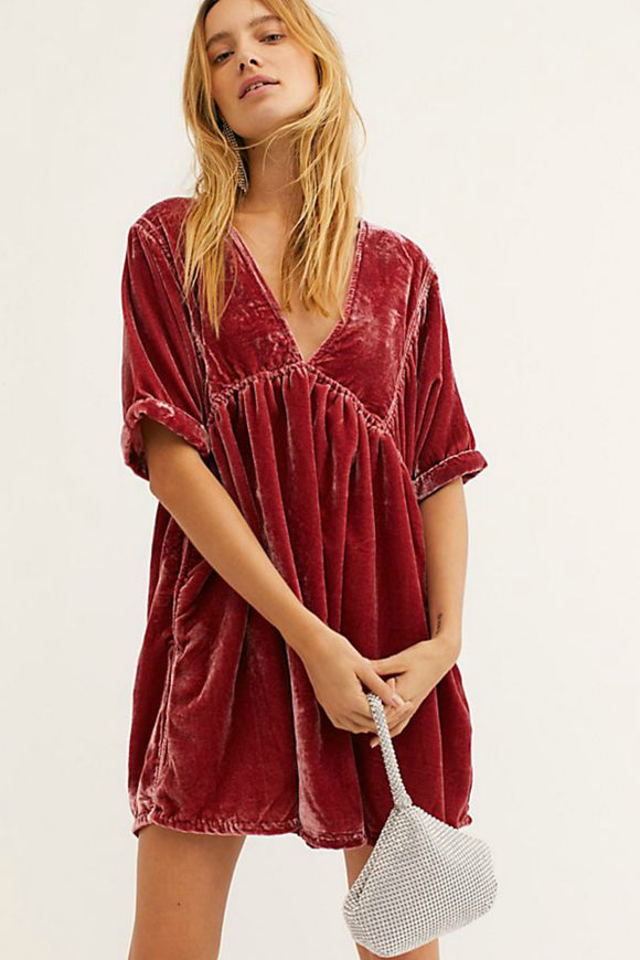 Ivy Velvet Mini Dress | Free People