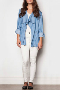 Nancy Jacket - Blue Jacket By Pink Martini - Casual & weekend Women Wear - Jolie Folie