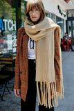 Jaden Ribbed Fringe Blanket Scarf | Free People