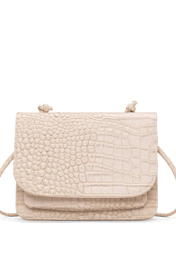 Jamie Croco Crossbody Carryall - Natural | Colab