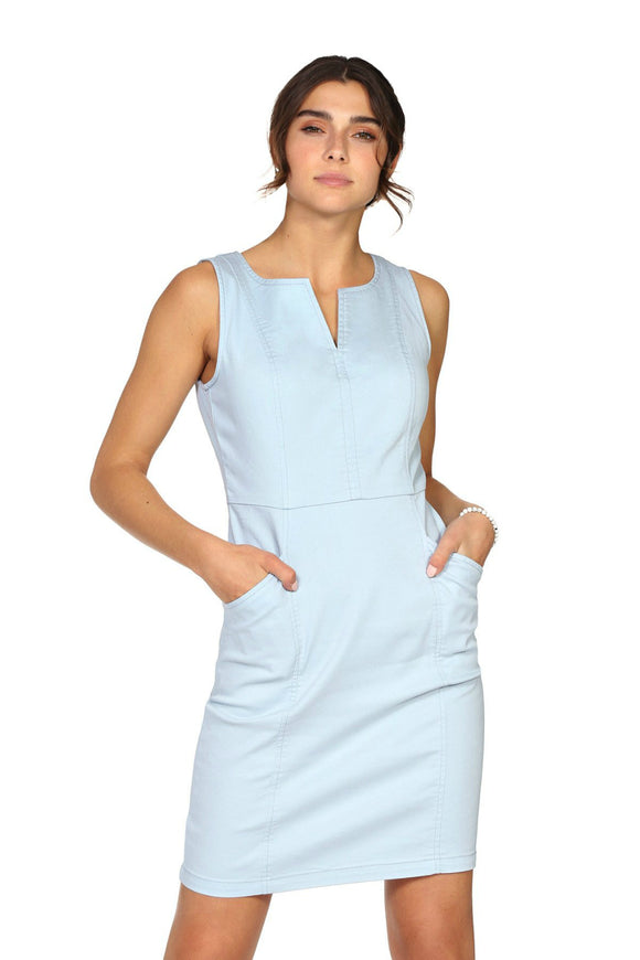 Joana Light Blue Dress | Schwiing