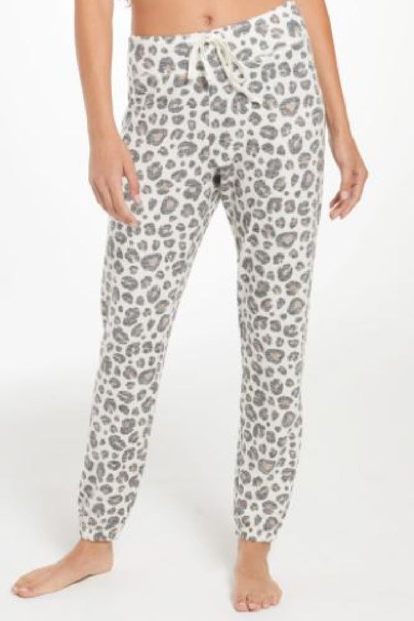 ava brushed slub leopard joggers by z supply