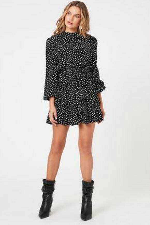 Juniper long sleeve polkadot print by minkpink