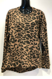 Waffle Knit Lounge Top - Leopard | RD Style