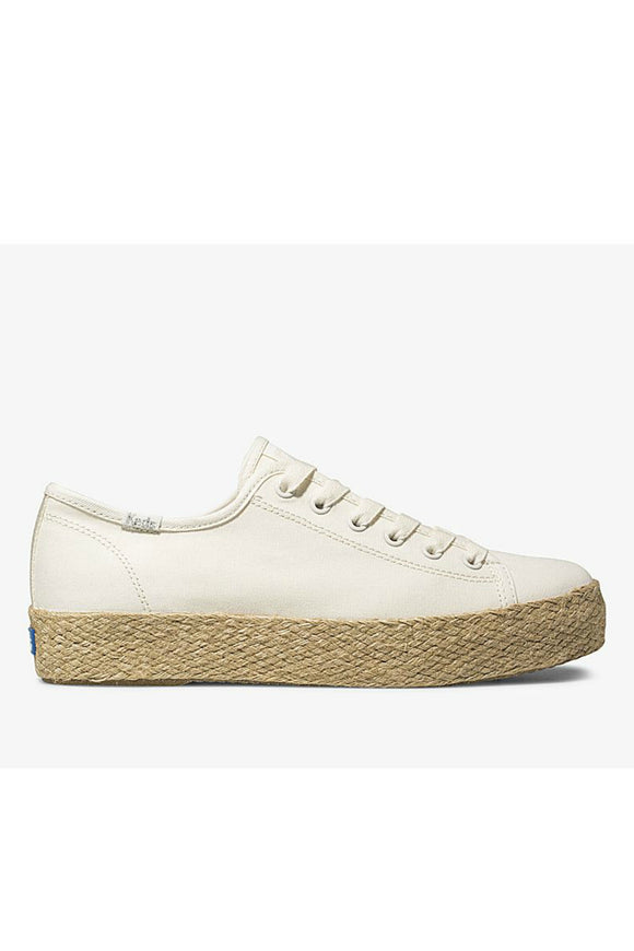 Women's Triple Kick Espadrille - White | Keds