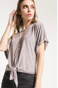 Knicks Button-Up Cut Out Top | Others Follow
