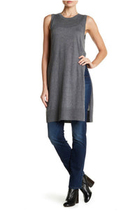 Long Sleeveless Knit Sweater - Kensie