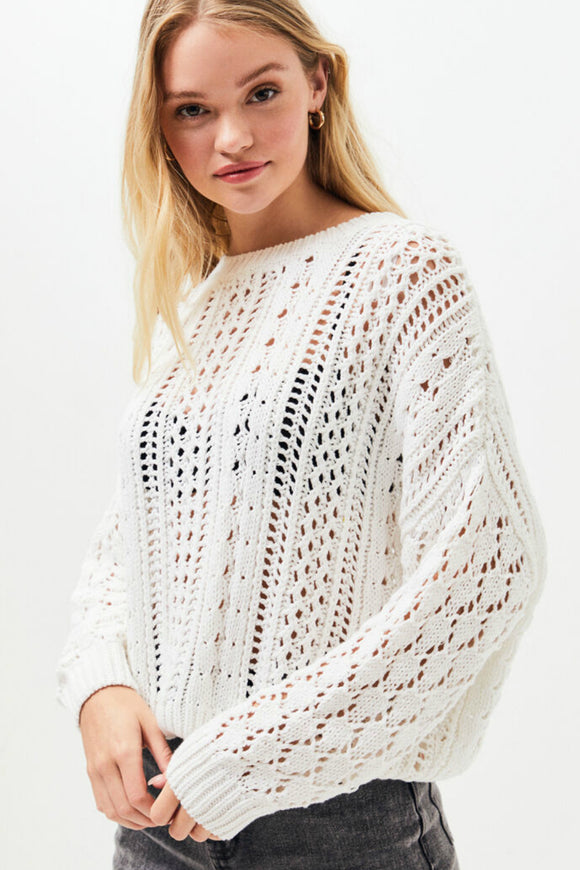 Minkpink - kimmy knit sweater. Jolie folie boutique