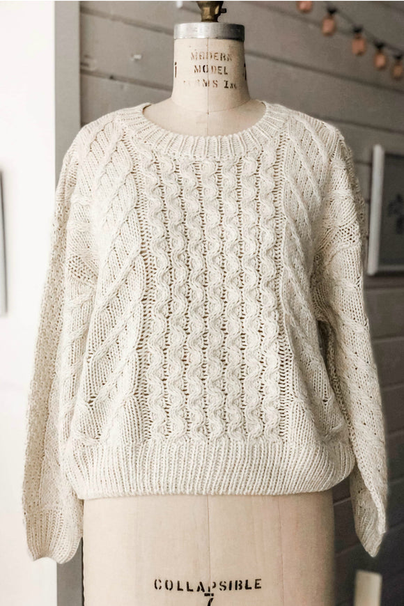 Stone Twist Cable Knit Sweater