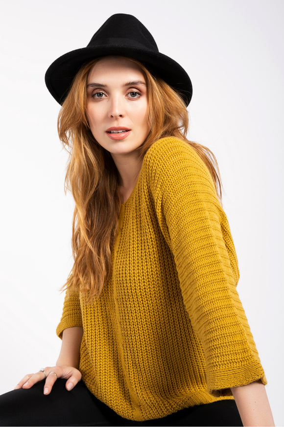 Knitted Long Sleeve Sweater | M Italy