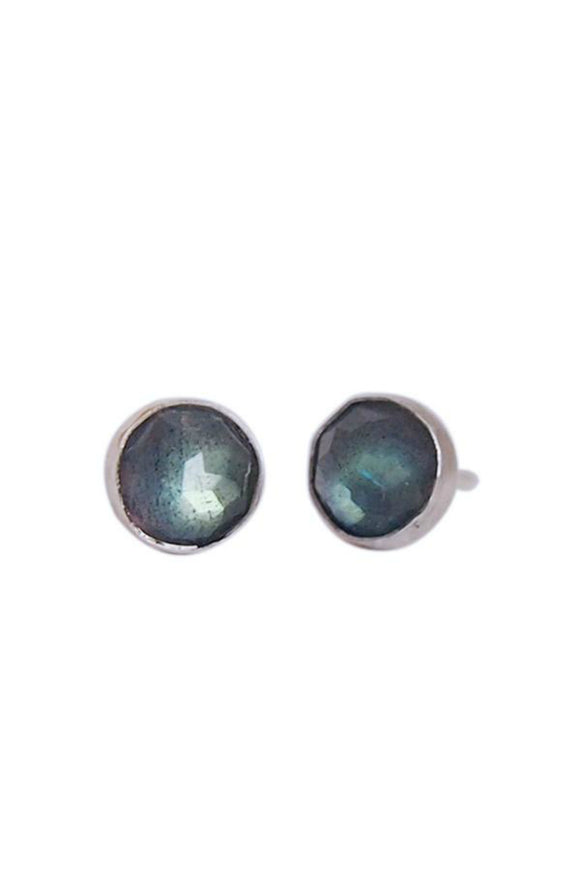 Gemstone Stud Earrings - Labradorite | Strut