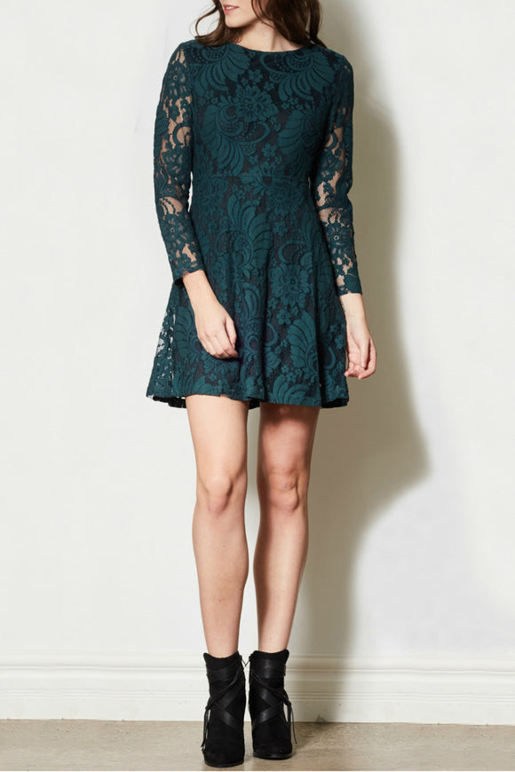 Fall Into Lace Dress | Pink Martini