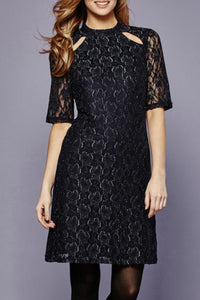 Lace Cut-out Bodycon Dress - Women Dresses - Jolie Folie