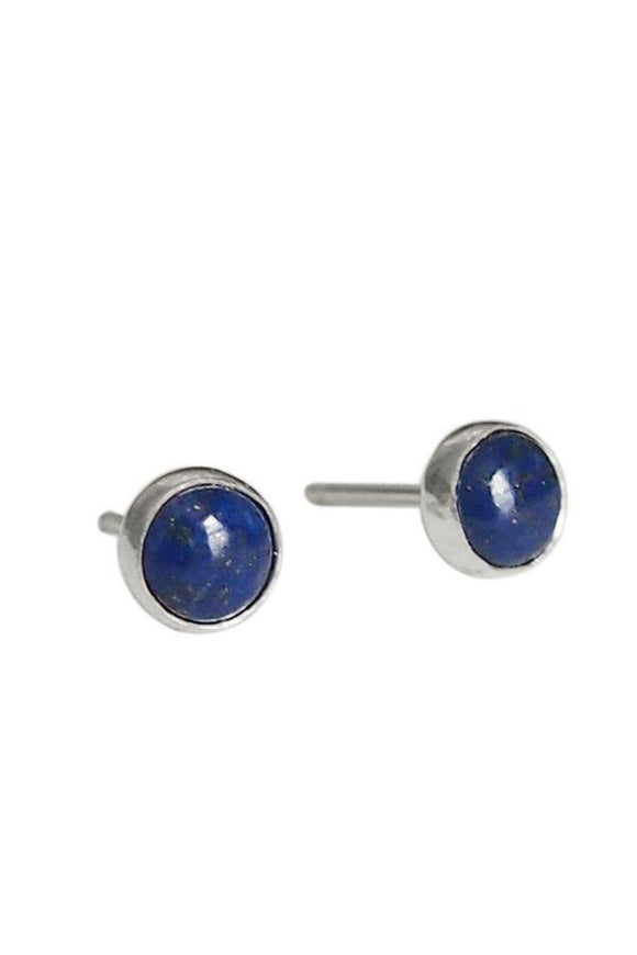 Gemstone Stud Earrings - Lapis Lazuli | Strut