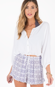 Lark Button-Up Crop Top | Others Follow