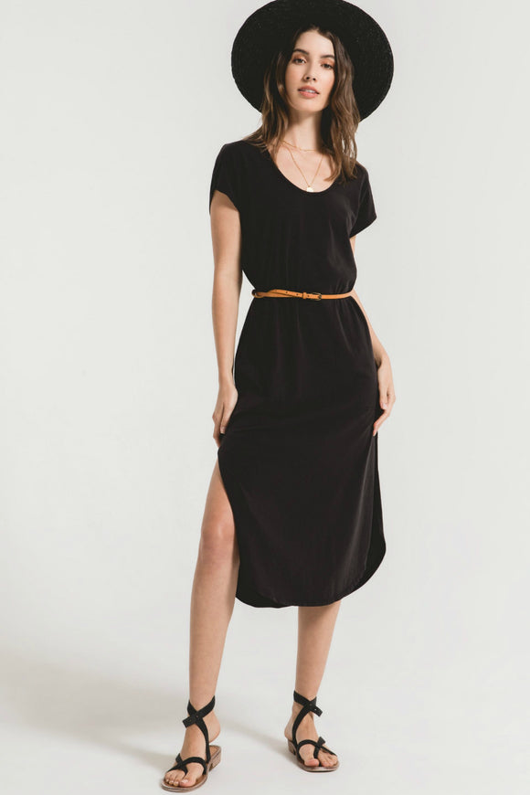 long black casual dress by z supply