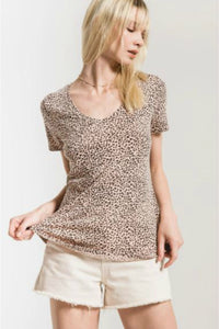 Pink leopard print tee by z supply