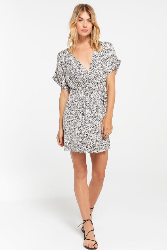 Torre Mini Leopard Wrap Dress | Z Supply