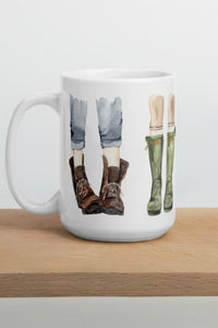 Life Is Better When I'm Wearing My Boots Mug | Casey Snyder Design