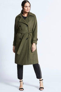 Maeve Khaki Trench Coat | Angel Eye