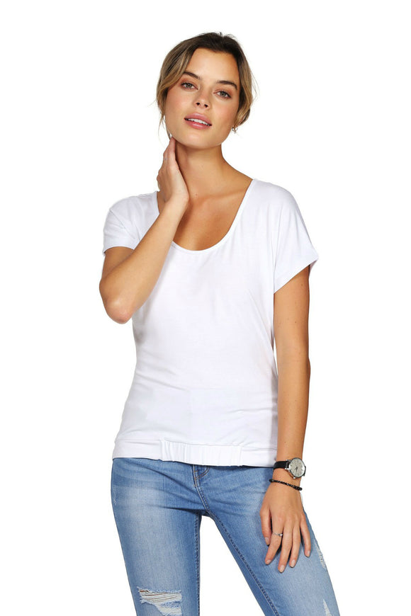 Schwiing white tee for women. Jolie folie boutique