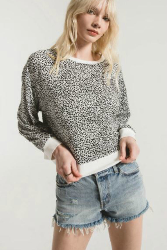 leopard print sweater by z supply