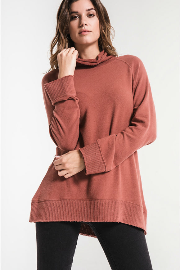 The Soft Spun Knit Mock Neck Pullover | Z Supply