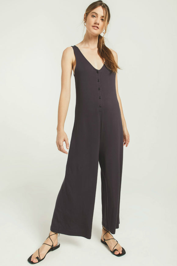 Black sleeveless jumpsuit by z supply