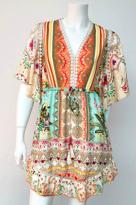 tropical summer dress.