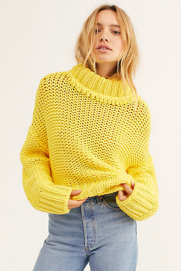 my only sunshine sweater. Free people yellow cable knit. Jolie Folie