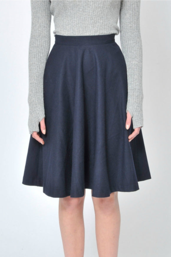 A-Line Navy Skirt | Pink Martini