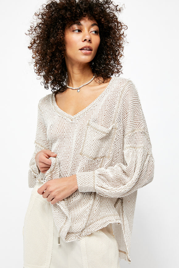 women's ivory slouchy sweater for summer by Free People