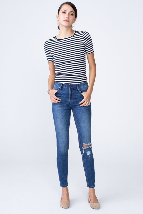 OLIVIA High Rise Skinny - Shameless