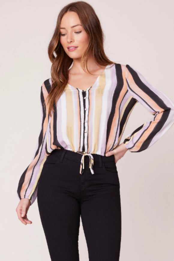 PAINT THE TOWN BUTTON FRONT TOP by bb dakota. Jolie folie boutique