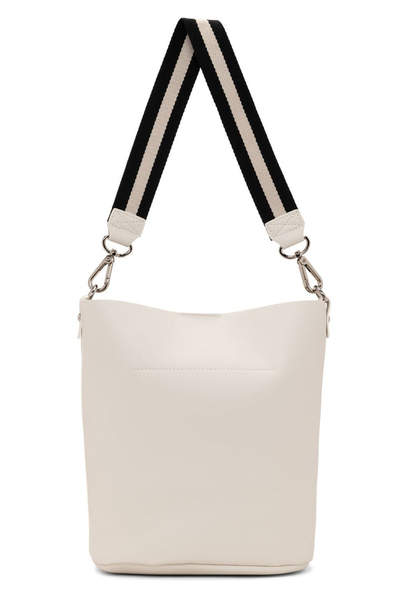 Peggy Shoulder Crossbody Bucket - White | Colab
