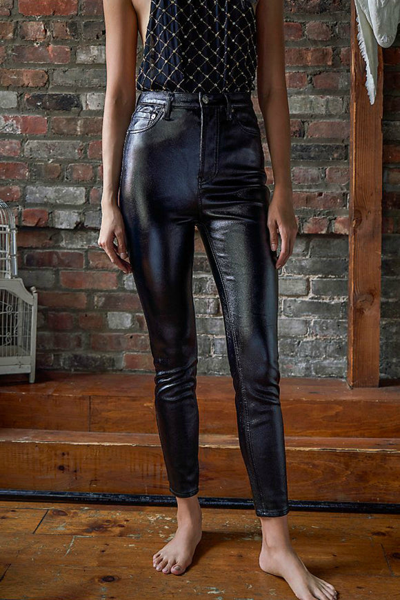 black leather jeans by free people