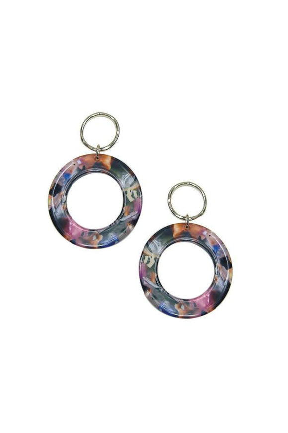 Pink Lucite Circle Statement Earrings | Strut