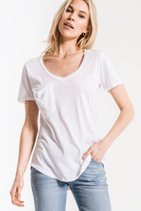 Z Supply white tee. Jolie Folie boutique