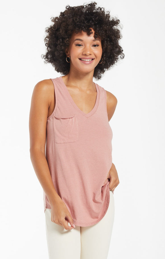 Pocket Racer Tank - Wild Rose | Z Supply